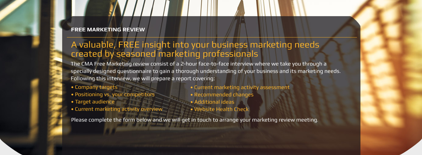 A valuable, FREE insight into your business marketing needs created by seasoned marketing professionals